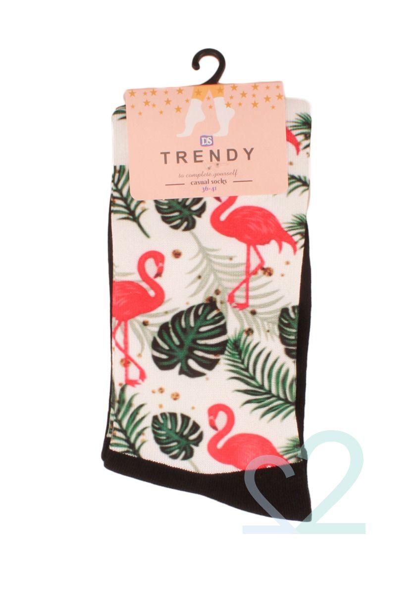 Κάλτσες γυναικείες Printed Tropical Flamingo